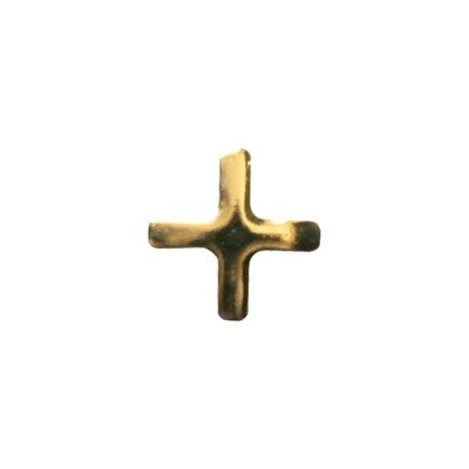 無臭アフリカ人成り立つピアドラ スタッズ クロスレット ハーフ 3mm 50P ゴールド
