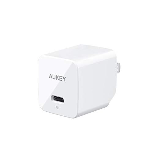 AUKEY ACアダプター 折畳式プラグ USB急速充電器 充電器 18W USB-C Power Delivery対応 iPhone Xs Max/iPhone Xs/iPhone XR/iPhoneX/8/8 Plus/iPhone 11/11 Pro/11 Pro Max等対応(ホワイト)PA-Y18