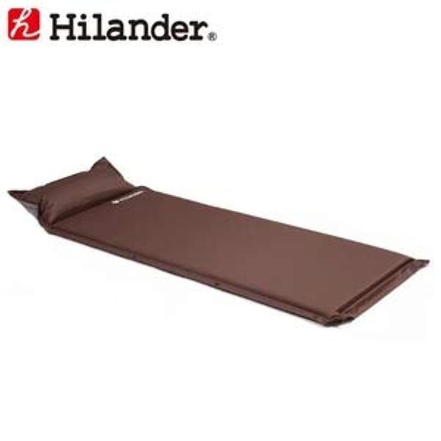 封建透けて見えるアナロジーHilander(ハイランダー) インフレーターマット(枕付きタイプ) 4.0cmシングルブラウン