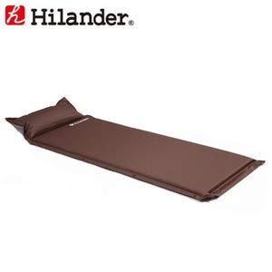 Hilander(ハイランダー) インフレーターマット(枕付きタイプ) 4.0cmシングルブラウン