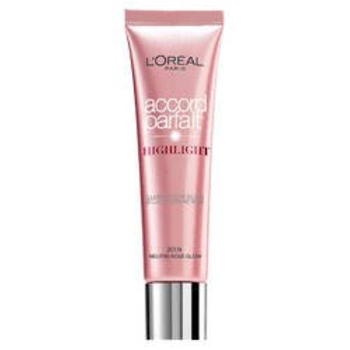 逆さまにより合併L 'Oréal Paris Accord Parfait Highlight Enlumineur Liquide 201 Rose
