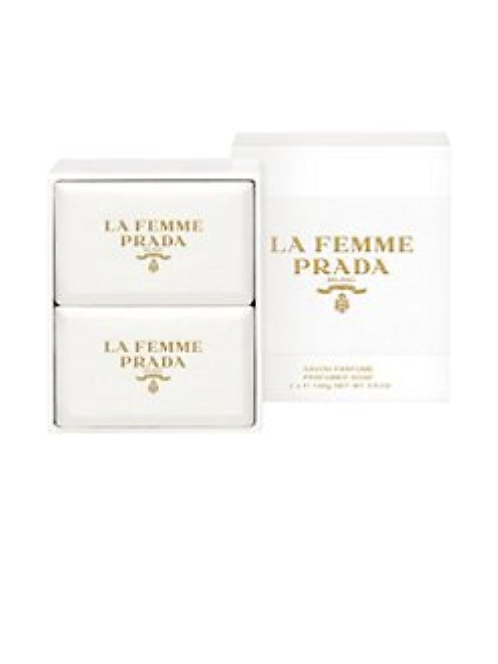 木製促すエクステントLa Femme Prada (ラ フェム プラダ) 1.75 oz (52ml) Soap (石鹸) x 2個 for Women