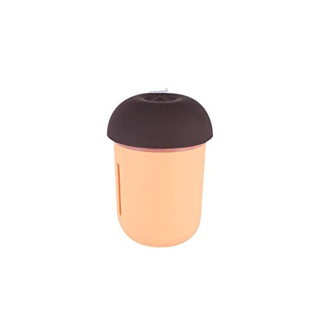 チャールズキージングロボット立派なZXF 新しいクリエイティブusb充電車の空気清浄機多機能水道メーターファンナイトライトスリーインワンきのこ加湿器オレンジピンク 滑らかである (色 : Orange)