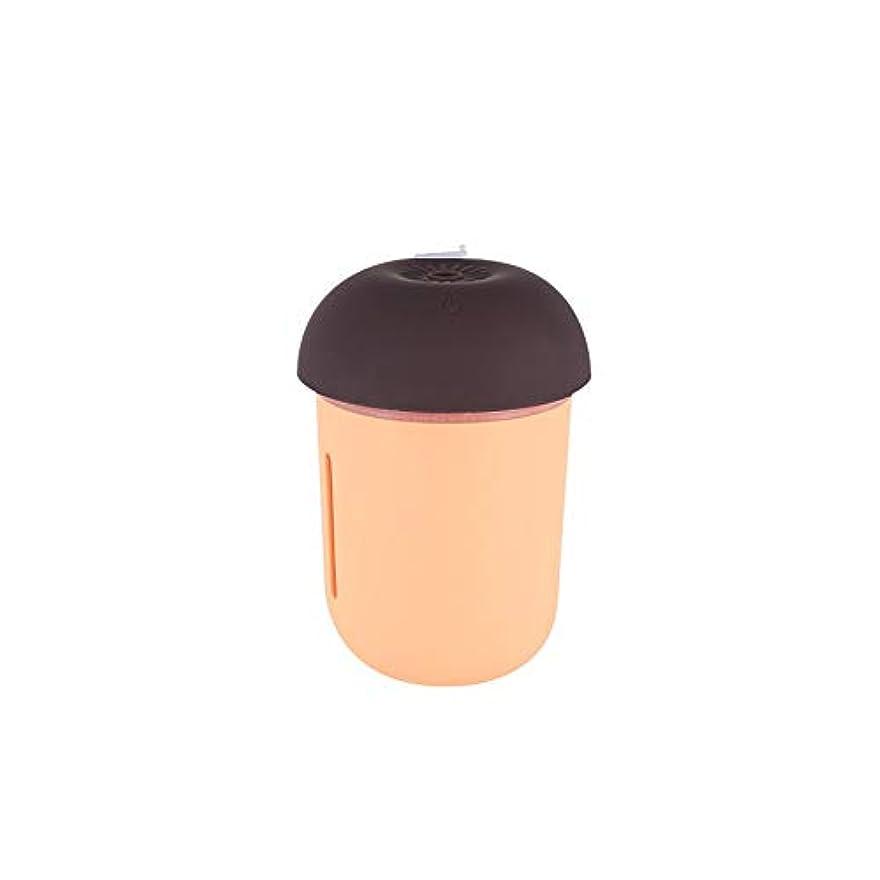 番号落とし穴硫黄ZXF 新しいクリエイティブusb充電車の空気清浄機多機能水道メーターファンナイトライトスリーインワンきのこ加湿器オレンジピンク 滑らかである (色 : Orange)