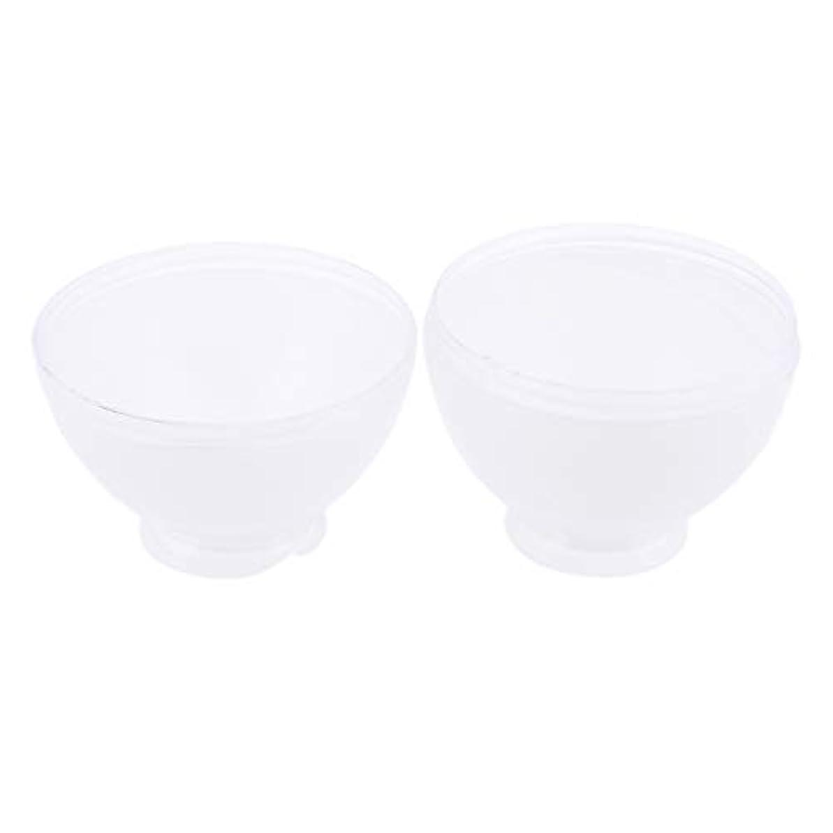 外側干渉する気づくDYNWAVE カラーボウル ヘアカラー ミキシングボトル プロ 美容師 キャンディー形状 便利 漏れ防止 全3色 - 白