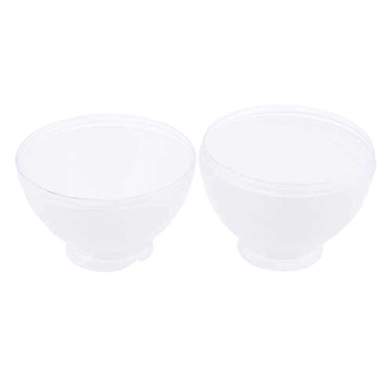 静脈忌まわしい建築家DYNWAVE カラーボウル ヘアカラー ミキシングボトル プロ 美容師 キャンディー形状 便利 漏れ防止 全3色 - 白