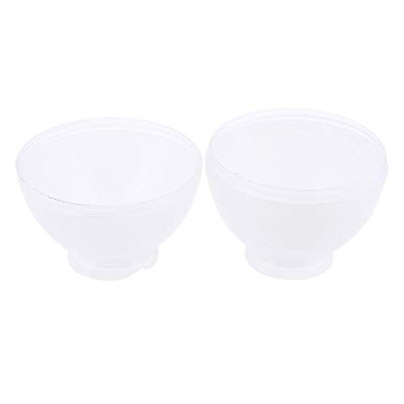 宙返り妥協かわすDYNWAVE カラーボウル ヘアカラー ミキシングボトル プロ 美容師 キャンディー形状 便利 漏れ防止 全3色 - 白