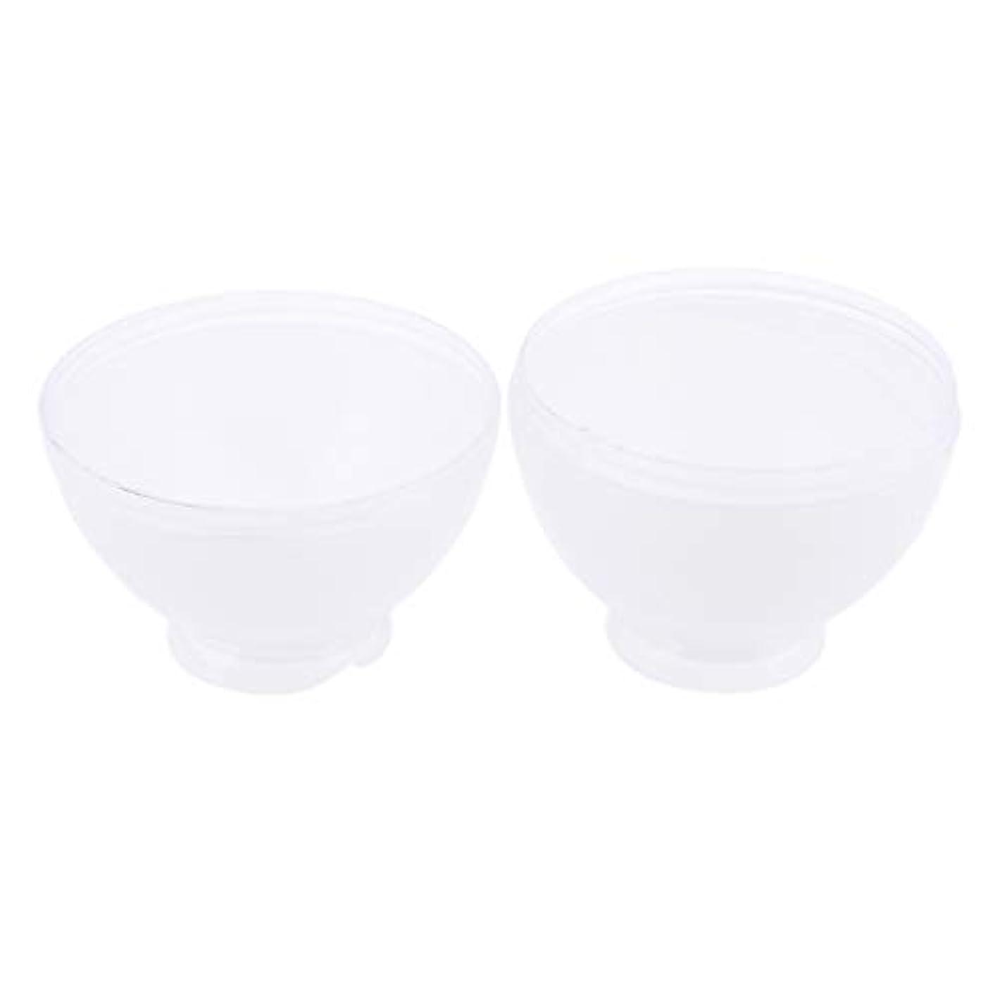 望む年リスクDYNWAVE カラーボウル ヘアカラー ミキシングボトル プロ 美容師 キャンディー形状 便利 漏れ防止 全3色 - 白