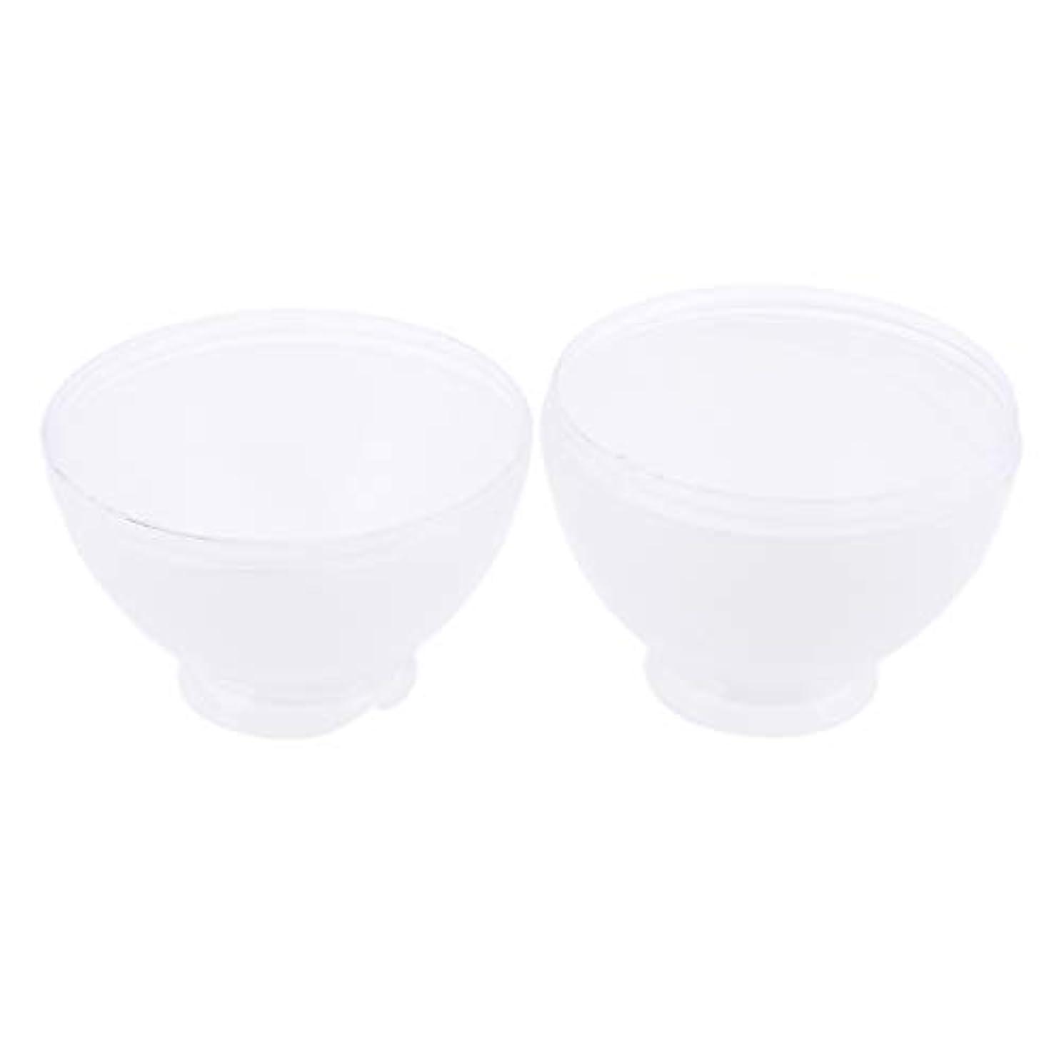 DYNWAVE カラーボウル ヘアカラー ミキシングボトル プロ 美容師 キャンディー形状 便利 漏れ防止 全3色 - 白