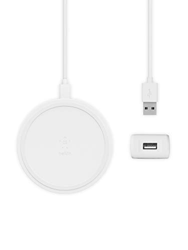 【Amazon.co.jp 限定】ベルキン ワイヤレス充電器 ACアダプター付き iPhone 8 / 8Plus / X/XR/XS/XS Max/Samsung Galaxy/LG 対応 Qi認証 5W 7.5W 10W 出力 パッドタイプ BOOST UP ホワイト F7U082JCWHT-A