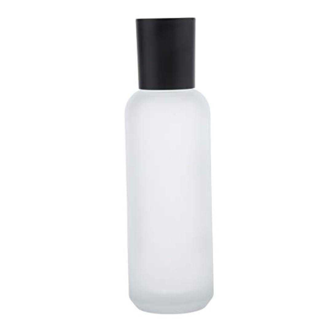 スパーク水陸両用排他的コスメ用詰替え容器 空ボトル 化粧品ボトル クリーム瓶 ガラス瓶 詰め替え可能 化粧品容器 全2サイズ - 120 ml