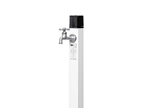 立水栓 不凍水栓柱 D-Xキューブ2 1.0m ホワイトカラー 一口不凍水栓柱のみ 蛇口別 寒冷地仕様 日本水道協会認定品
