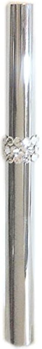 ドロップ刺繍最初アトマイザー ロールオン 香水 詰め替え 『C-line』 スティックアトマイザー (シルバー ? メタル) / スワロフスキー クリスタル/携帯性?遮光性?保香性