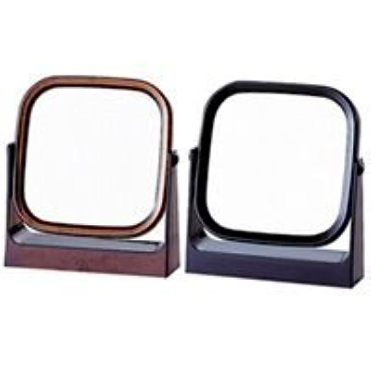 スタンドミラー ヤマムラ 卓上ミラー [鏡] レディ角型 ブラック