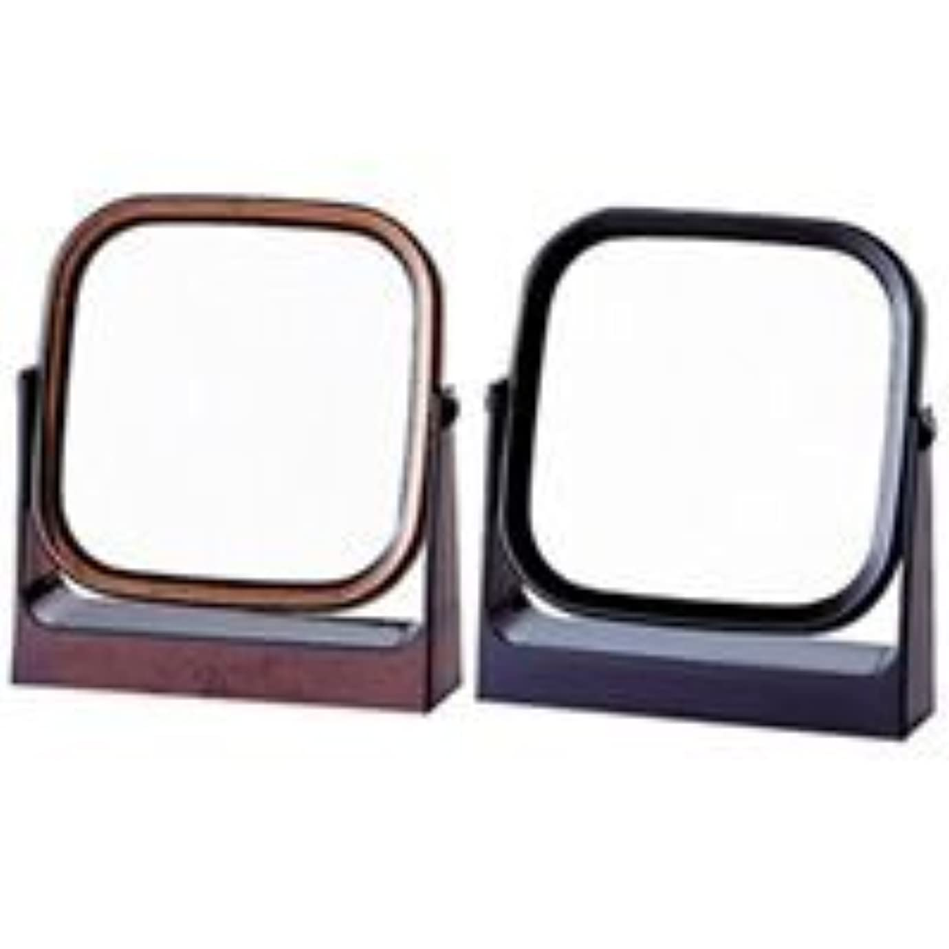 ウィスキーピル確かにスタンドミラー ヤマムラ 卓上ミラー [鏡] レディ角型 ブラック