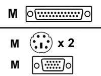 Raritanキーボード/ビデオ/マウス( KVM )ケーブル–6.6Ft ( ccpt20) -