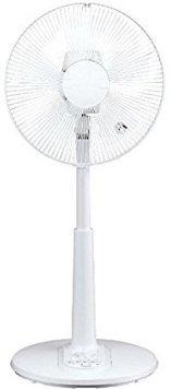 ユアサプライムス 30cm押しボタン式リビング扇風機 YT-3016V(W) 風量3段階 切タイマー