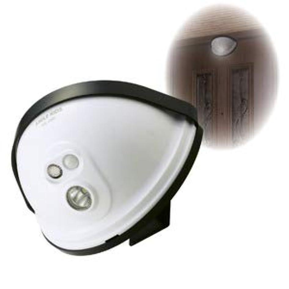 のぞき見と組むサルベージLEDセンサーライト/玄関灯 【ドア設置用】 乾電池式 防水性