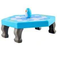 保存IcebreakerペンギンゲームパズルテーブルKnockゲームデスクトップパーティーおもちゃ(ブルー)