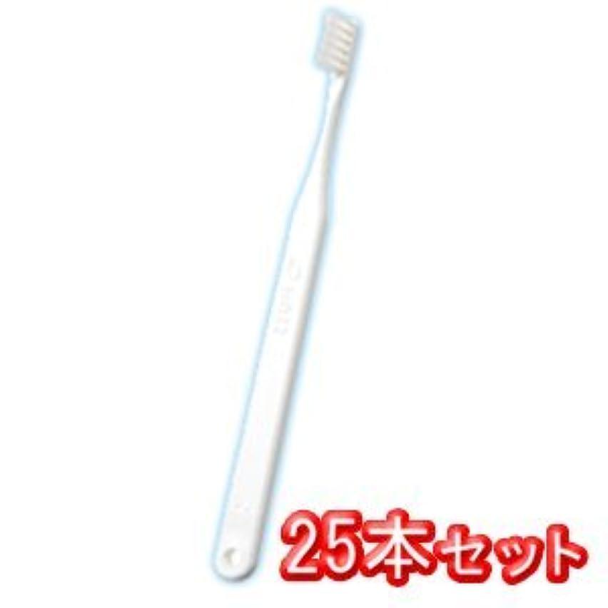 滝特徴づける放棄タフト12 歯ブラシ 25本入 ミディアム M ホワイト
