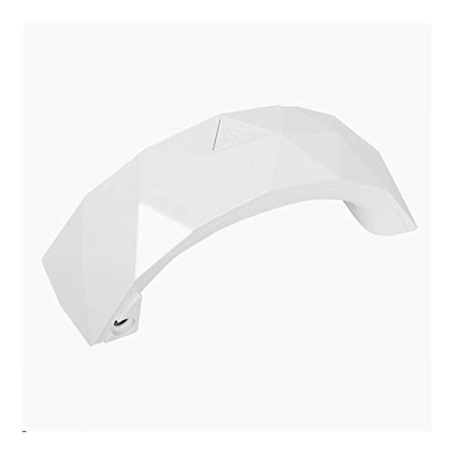 オーク引き渡すパッケージLittleCat ミニLEDレインボーライトセラピーランプジェルネイルポリッシュネイルズネイルドライヤーの熱ランプライト療法機械 (色 : White)