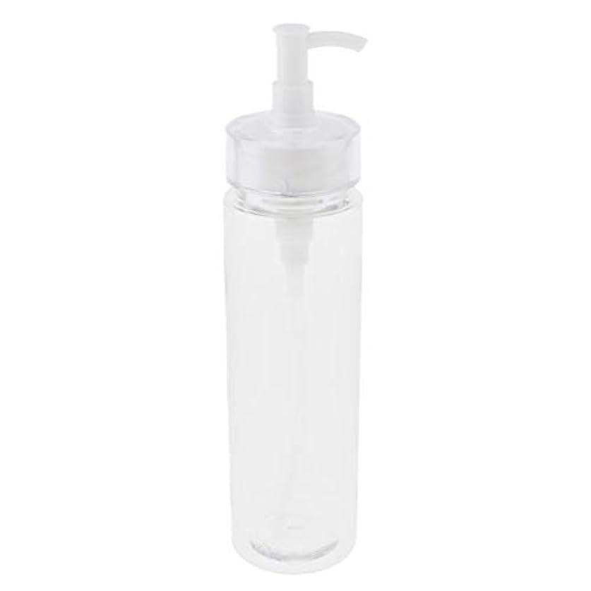おしゃれじゃない可能にする消去保湿剤、血清および精油のための空の詰め替え式のびんのローションの血清ポンプディスペンサー旅行容器 - 200ミリリットル