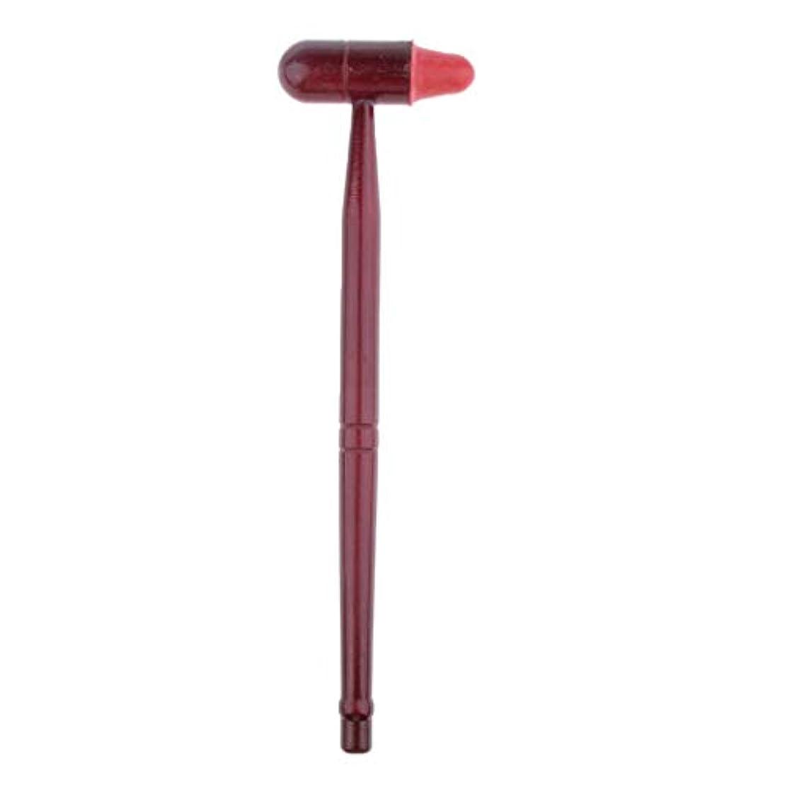 鍔植物のパブIPOTCH 木製 マッサージハンマー 肩たたき棒 ツボ押し ノックハンマー 痛みや疲労を緩和 健康 ツボ押し