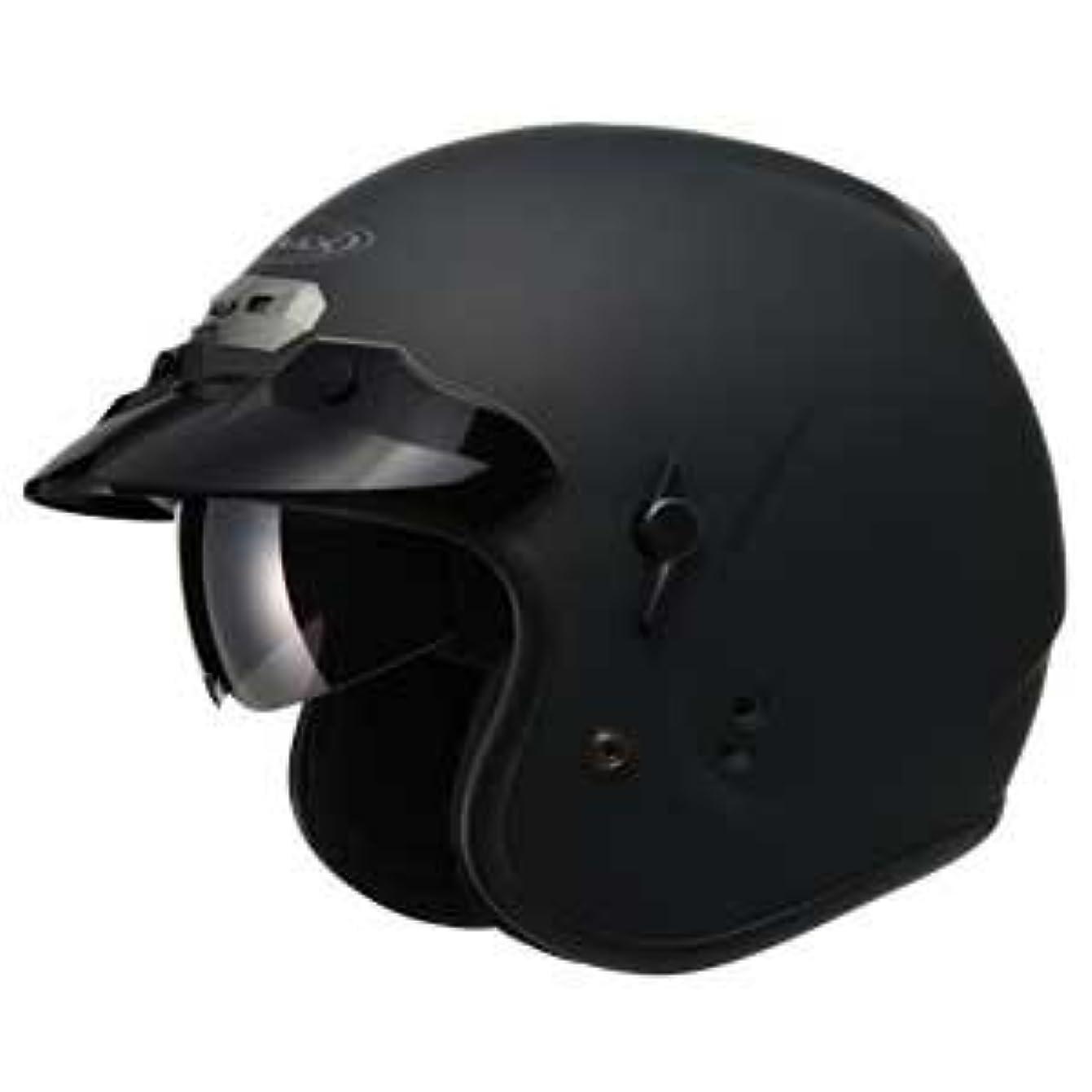 行うカールワイプGMAX ジーマックス GM32 OPEN FACE Helmet ヘルメット フラットブラック XXL(63~64cm)