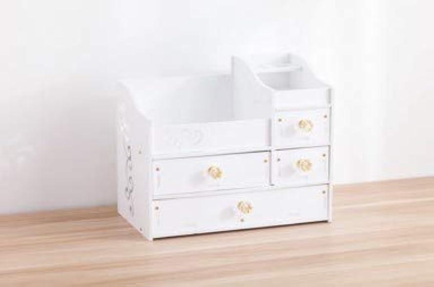 苦孤独こどもの日デスクトップスキンケア化粧台ジュエリーボックスクリスタルハンドル引き出し収納ボックス木製化粧品収納ボックス
