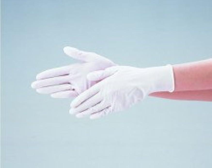 落ちたに足音エブノ ニトリル手袋 No.525 L 白 (100枚入×20箱) ディスポニトリル パウダーフリー ホワイト