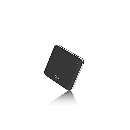モバイルバッテリー 軽量 小型 薄型 10000mah 大容量 2USBポート 急速充電 コンパクト 携帯充電器 PSE認証済 iPhone&Android各種対応 (ブラック) …