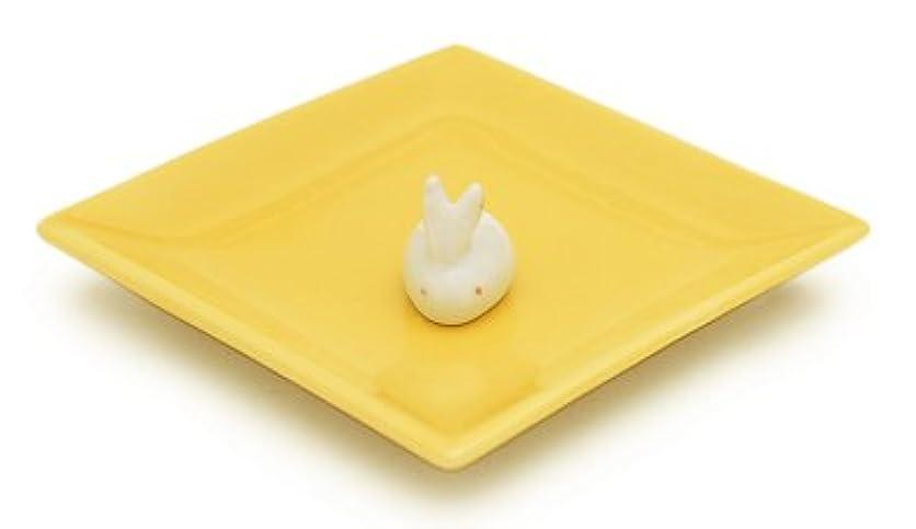 便益底シェルター陶器香皿&ウサギ香立(イエロー)