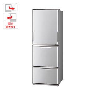 『シャープ 350L 3ドア冷蔵庫(シルバー系)SHARP どっちもドア SJ-WA35B-S』のトップ画像