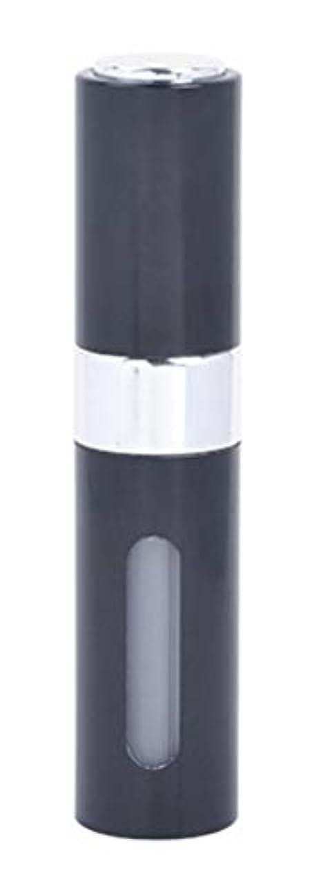 かわいらしい協定オートメーションアクアミー ワンタッチ 補充 アトマイザー クイック 詰め替え 携帯 香水 スプレー 8ml (1個, ブラック)