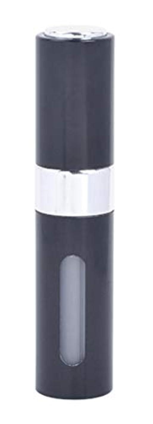 手当空いている化合物アクアミー ワンタッチ 補充 アトマイザー クイック 詰め替え 携帯 香水 スプレー 8ml (1個, ブラック)