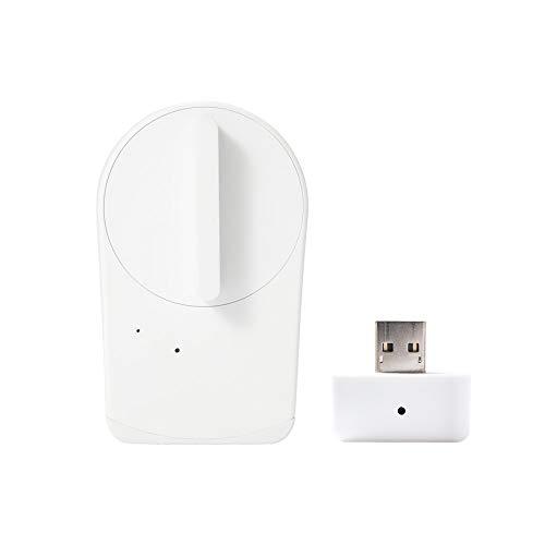 セサミ mini スマートロック本体 パールホワイト + Wi-Fiアクセスポイント 取付簡単 スマートフォンでドアを施錠解錠 Amazon Alexa/Google Assistant/Siri/Apple Watch/IFTTT対応