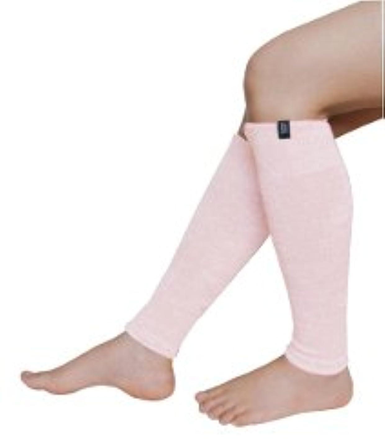 健康深遠金銭的なふくらはぎ専用 ミーテ?軽やか シルクコットン (ピンク)締め付けない  シルクとコットンの天然素材  長さ40cm