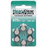 Hearclear ヒアークリアー 人工内耳用電池 コクレア 675CI 60個
