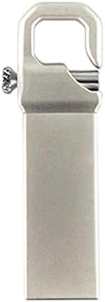 Uディスクステンレススチール USB 3.0高速 USB 3.0フラッシュドライブ2TB外部ストレージメモリースティック32GB-2TBポータブル (Color : Silver)