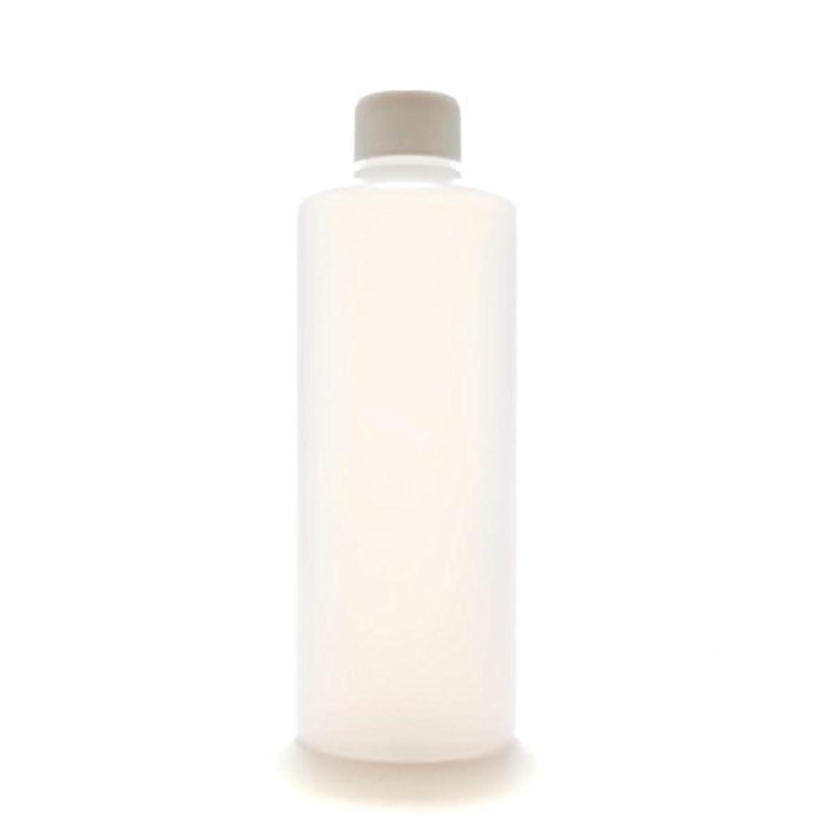 放映ハプニング添加プラスチック容器 300mL PE ストレートボトル 半透明【スクリューキャップ:ホワイト 中栓付き】