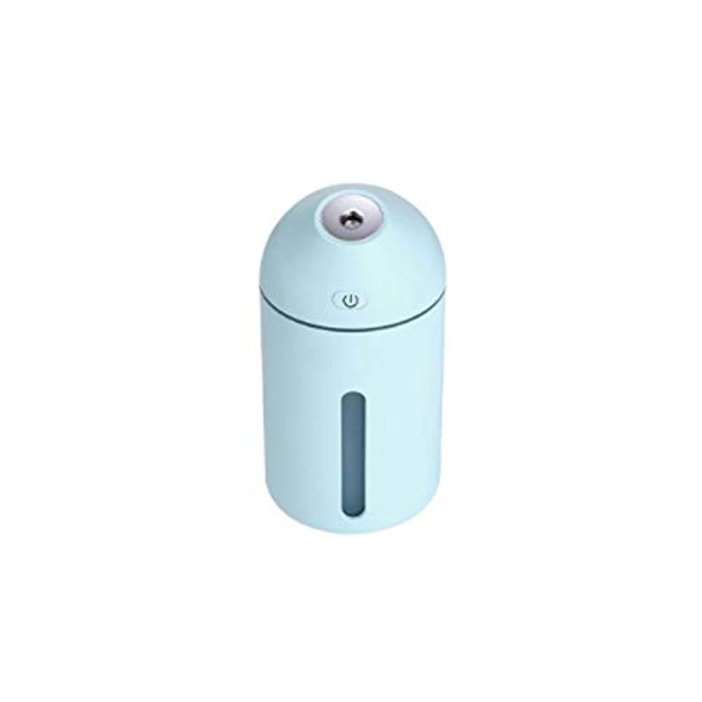 加湿器 - ミニ加湿器ホームエアーハイドレーションドミトリーベッドルームデスクミュートアロマテラピー加湿ポータブルカーアトマイゼーション (色 : 青)