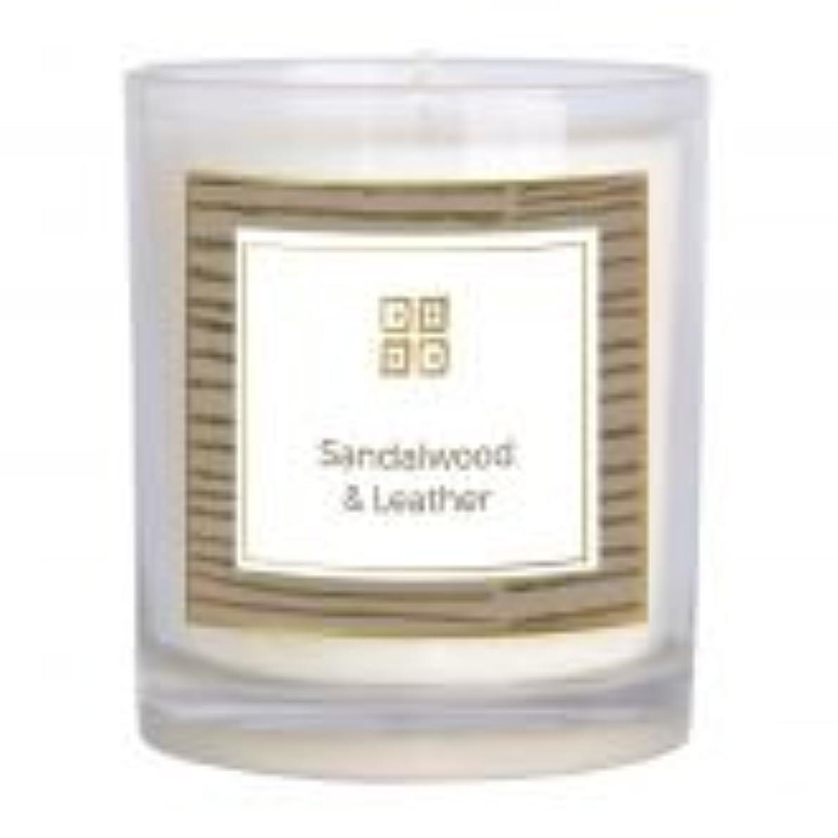 教養がある脱臼するたっぷりサンダルウッド&レザー香りのキャンドル 12 oz 503-08844
