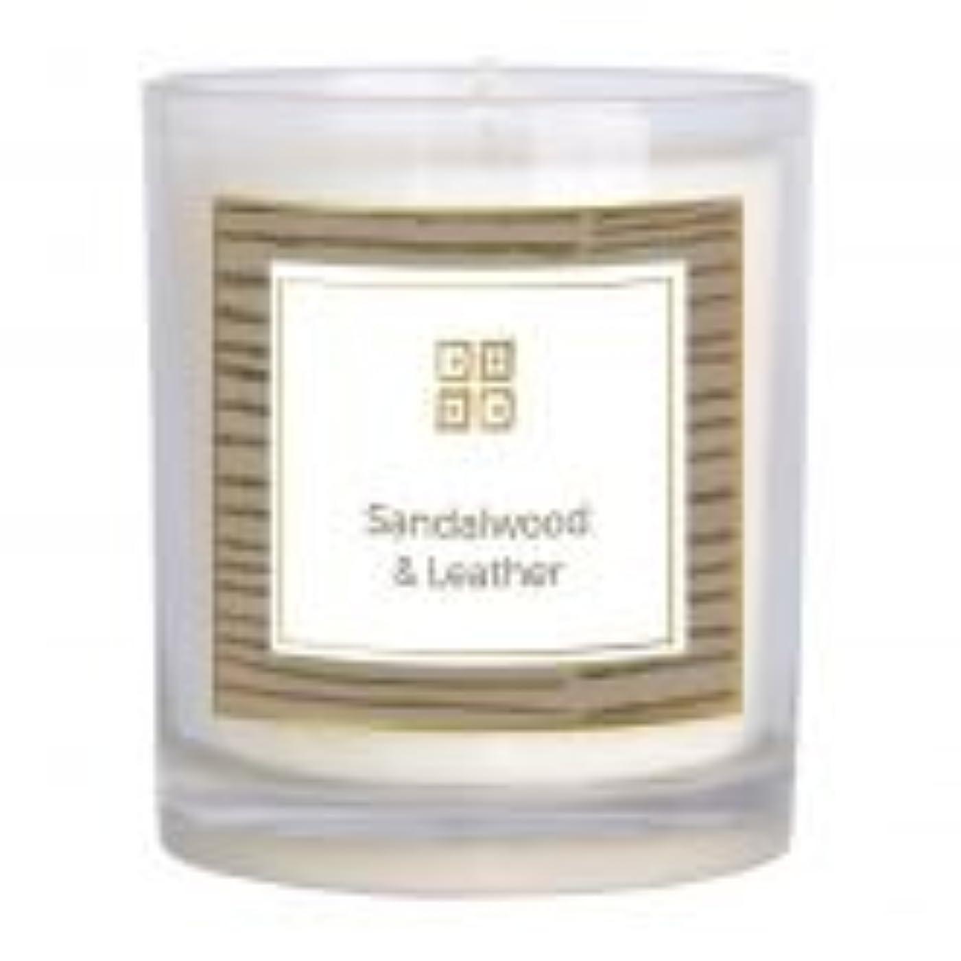誰でもかんたん自伝サンダルウッド&レザー香りのキャンドル 12 oz 503-08844