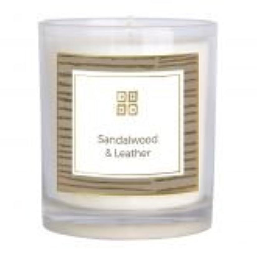 ケント海岸心配するサンダルウッド&レザー香りのキャンドル 12 oz 503-08844