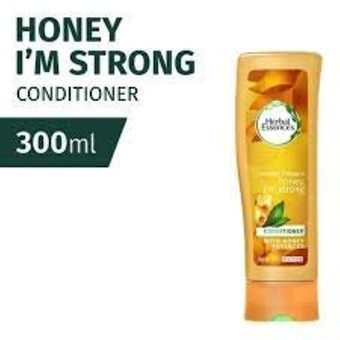 力半円解釈するCLAIROL HERBAL ESSENCES ハニーは、私は強いコンディショナー300ミリリットルのだ - それを甘いパワーを与えて、蜂蜜の風味が豊かでクリーミーな風味は保湿が髪を修復混合して