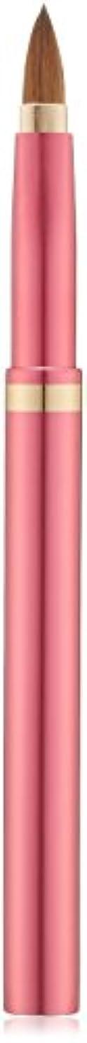 鎮痛剤絶対の投げ捨てる広島県熊野のメイクブラシ オートリップブラシ 尖型 (ピンク) コリンスキー