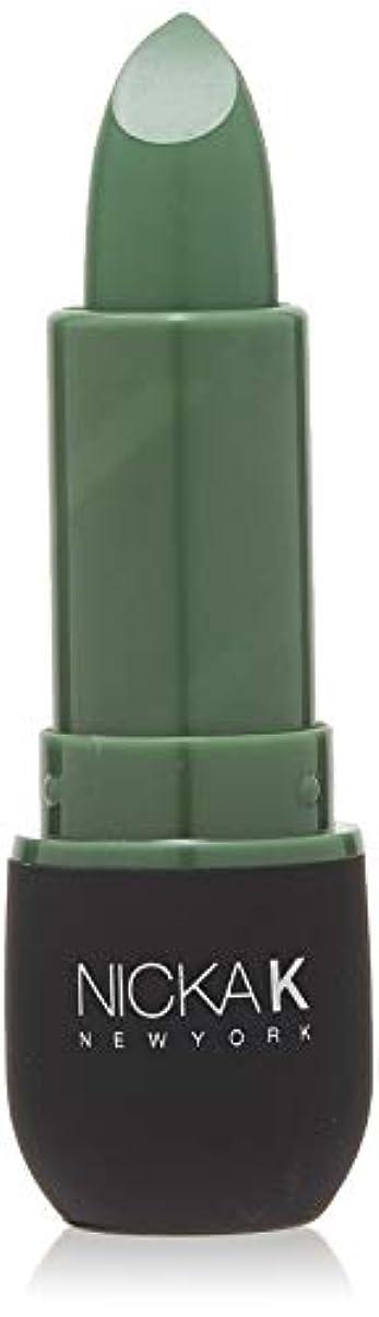できれば鉄道駅バスルームNICKA K Vivid Matte Lipstick NMS11 Sea Green (並行輸入品)