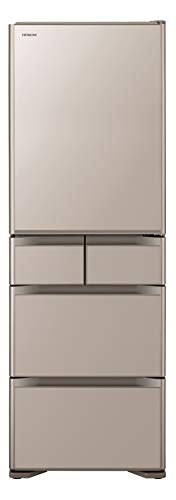 日立 冷蔵庫 501L 5ドア クリスタルシャンパン R-S5000H XN