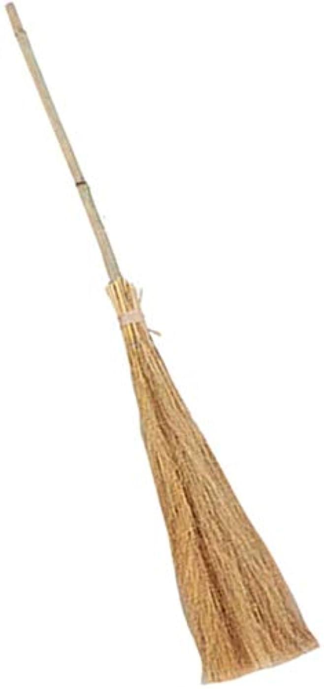 防止アプライアンス実験的子供わらほうきハロウィンコスプレプロップ滑らかな竹が安全柔らかい毛安定な構造の手作りハンドル(カラー:ナチュラル、サイズ:90センチメートル) (Color : Natural, Size : 90cm)