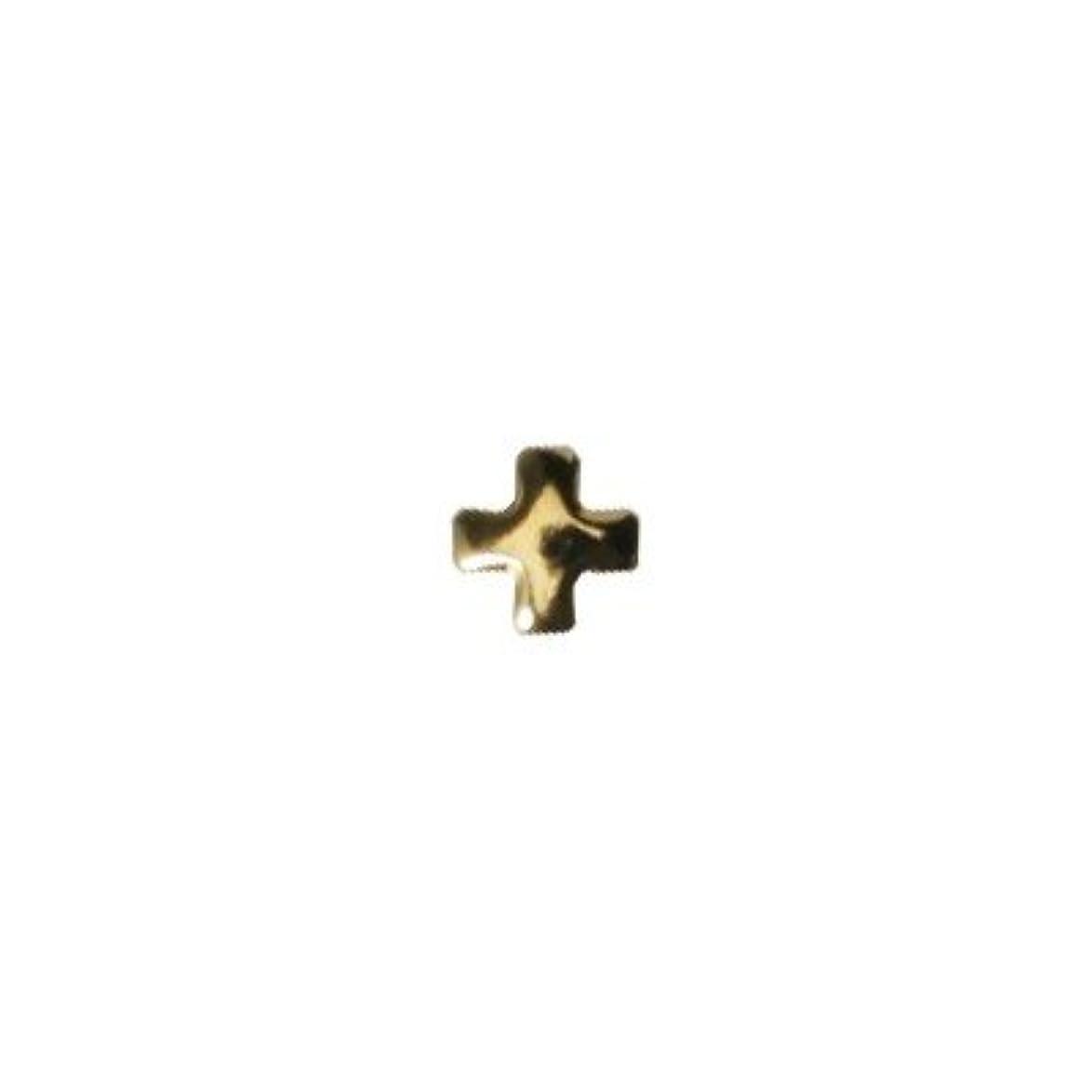欺初心者動ピアドラ スタッズ クロスレット 2mm 50P ゴールド